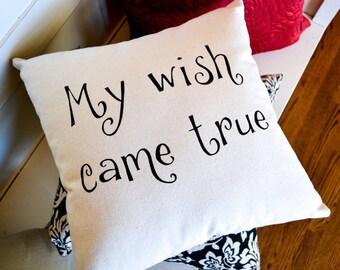 Canvas Pillow, Throw Pillow, Engagement Gift, Shower Gift, Wedding Gift, Cute Bedding, Decorative Pillow, Throw Pillow, Home Decor