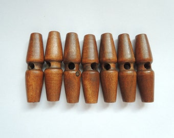 8Pcs  49X13mm   Wood Toggle Button one holes (W948)