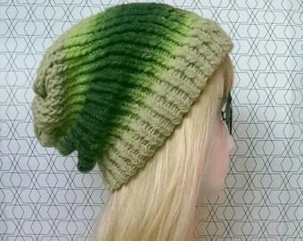 Green beanie