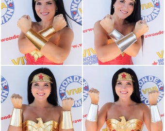 Wonder Woman CUFFS BRACELETS Gold or Silver