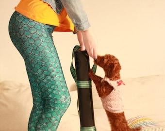 MERMAID GREEN LEGGINGS Green Gradient Green and Aqua/ Workout Leggings/ Yoga Pants Bottoms/ Sexy Tights/ Sports Pants/ Yoga Tights dx1green