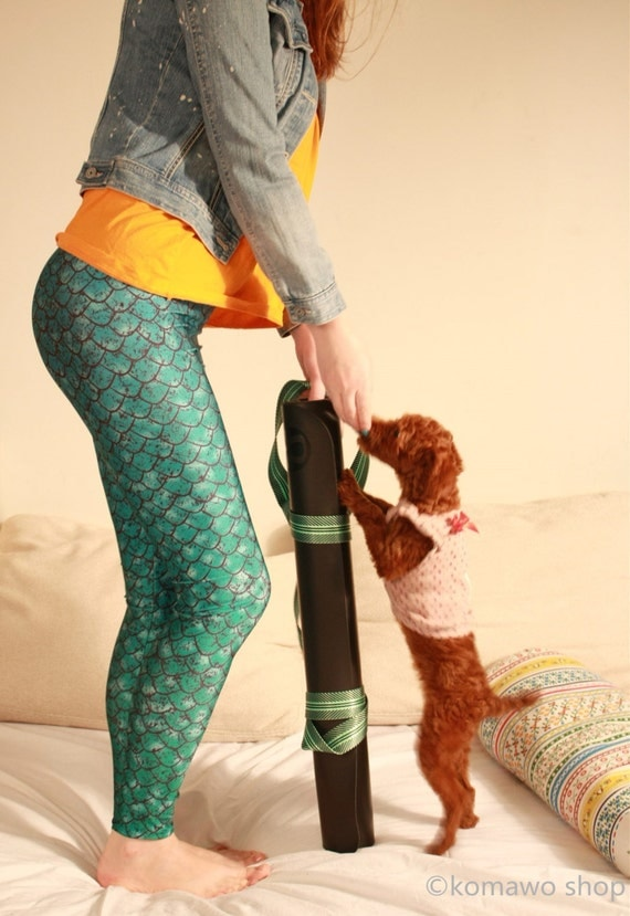 MERMAID GREEN LEGGINGS Green Gradient Green and Aqua/ Workout Leggings/ Yoga Pants Bottoms/ Sexy Tights/ Sports Pants/ Yoga Tights dx1green