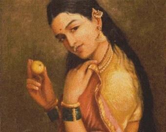 Woman Holding a Fruit PDF Cross Stitch Pattern