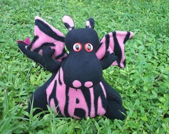 Black & Pink Zebra Dragon