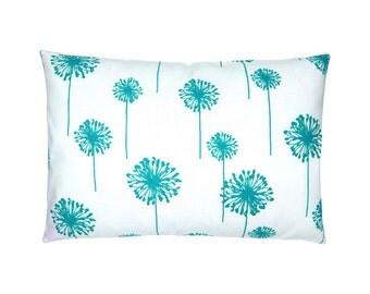Pillowcase dandelion DANDELION 40 x 60 cm white turquoise