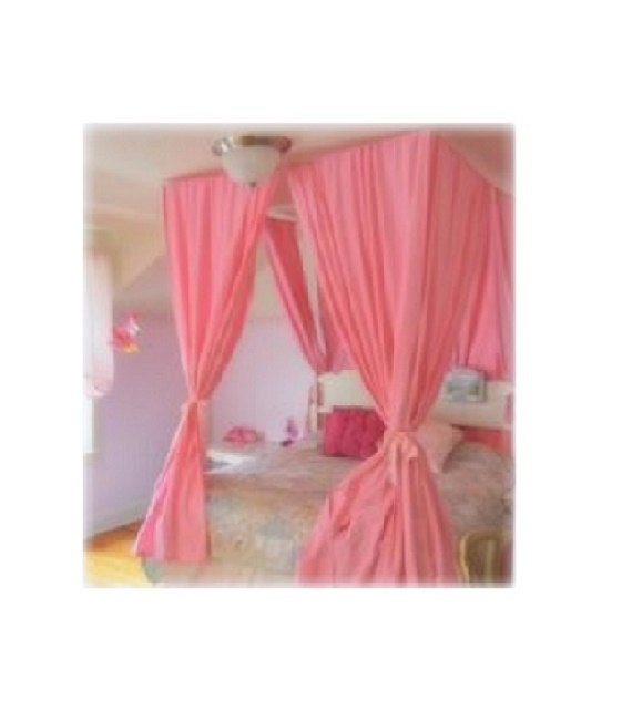 Building relationships with bed canopy kit bangdodo for Diy poster bed
