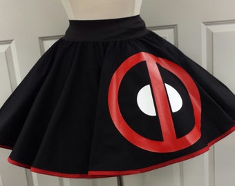 Deadpool  Skirt (Assorted Colors Available)
