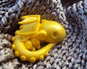 Miniature Pet Dragon Fairy Garden, Polymer Clay Dragon, Clay Dragon, Fairy Pet. Pet Dragon, Baby Dragon, Yellow