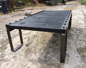 Beautiful Charred wood center table, can be fabricated to any size.