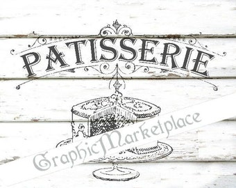 Patisserie Cake Confiserie Cupacakes Instant Download Transfer digital collage sheet graphic printable No. 789