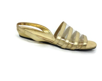 SALE - GOLD Sling Back Sandals