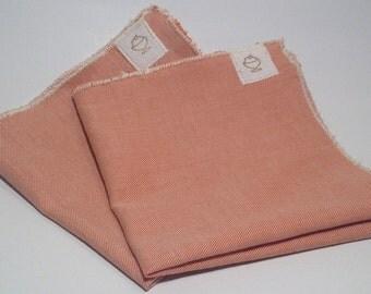 The Peaches-&-Cream Pocket Square