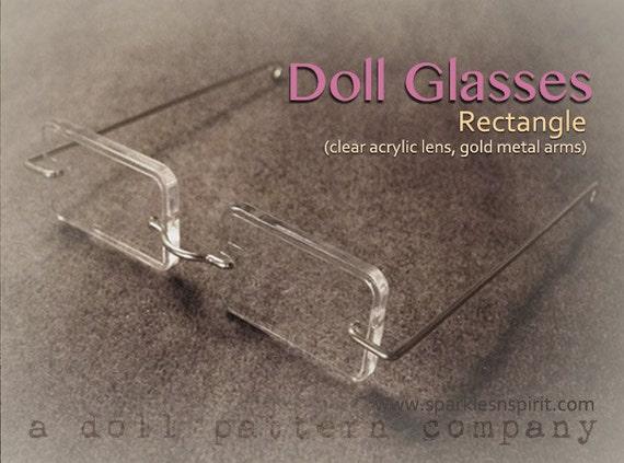 Doll Glasses - Rectangle