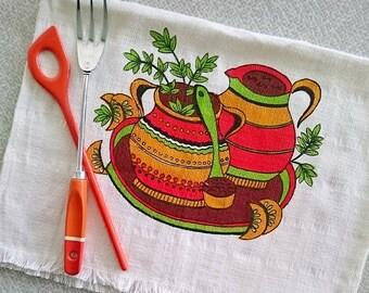 Retro cotton tea towel in great condition