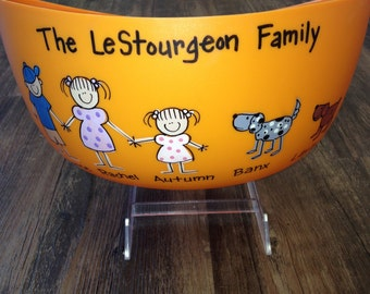 Family Popcorn Bowl - Personalized