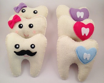 Tooth Fairy Pillow plush with pocket to hold tooth