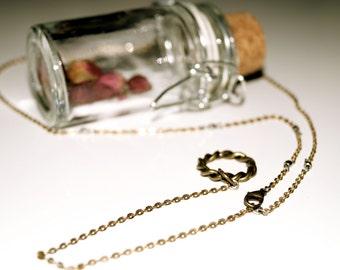 Antique circle pendant bridal backward necklace