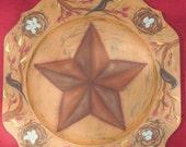 PATTERN, Painting Pattern, Barn Star, Blackbird, Plate, OFG, FAAP, Fall, DecoArt Americana, Acrylic,