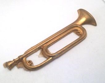 Vintage Brass Trampet Stamping Finding