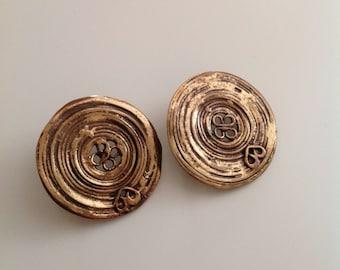 Vintage bronze earrings