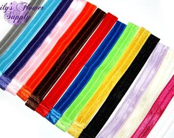 Elastic Headbands - Choose colors - Fold Over Elastic Headbands - Interchangeable Headband - Baby Headbands - Foldover Headbands