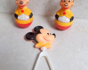 3 Vintage Mickey Mouse items