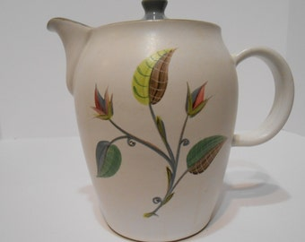 Vintage Denby Spring Stoneware Coffee Pot by Glyn Colledge