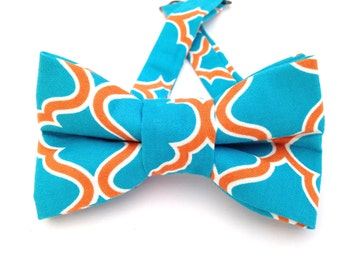 Blue and orange tie, blue bow tie, orange bow tie, bow ties, orange bow ties, blue bow ties, orange necktie,  blue necktie,