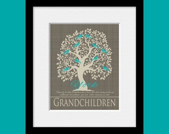 Grandparents Christmas Gift, Customized Family Tree, FAMILY TREE PRINT, Personalized Family Tree Print, Special Occasion Gift