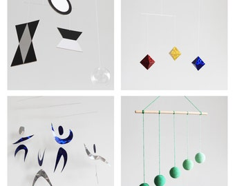 4 Assembled Montessori Classic Mobiles for Baby