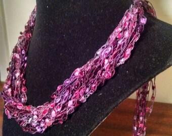 Trellis Necklace / Crochet Necklace Item No. 106