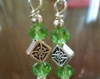 Green Celtic Dangle Earrings Item No. 79