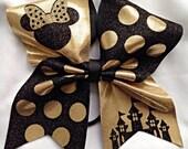 Disneytime gold/black full size bow