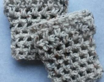 Oatmeal child crochet boot cuff, childrens boot cuff, child boot topper, child boot socks, girl boot cuff, girl boot sock, crochet boot sock