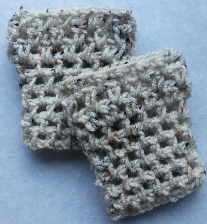 Oatmeal child crochet boot cuff childrens boot cuff child