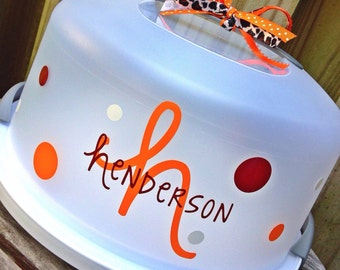 Personalized Monogrammed Cake Carrier