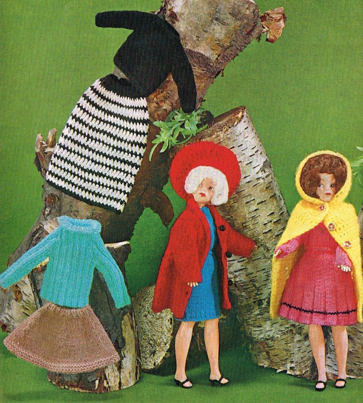 Knitting Patterns For Barbie Dolls : 12 Dolls clothes knitting pattern. Barbie or Sindy.