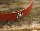 Handmade Leather Dog Collar with Cool Conchos
