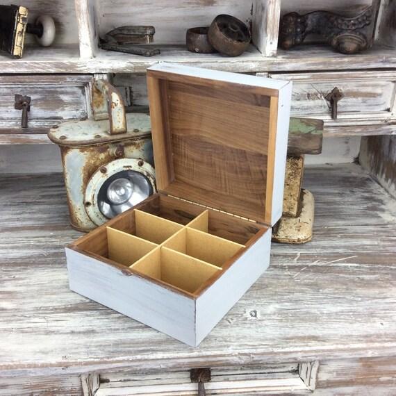 storage box rustic wood box beach cottage decor