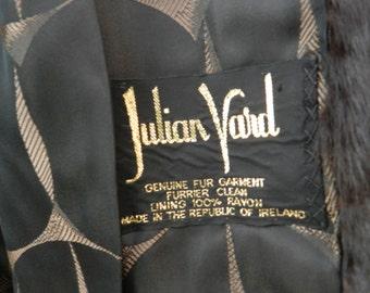 FINAL CLEARANCE SALE-Vintage Fur Jacket-Julian Vard Genuine Fur Jacket-Real Fur-Mink-Made Eire-Very Good Condition-Irish Fashion