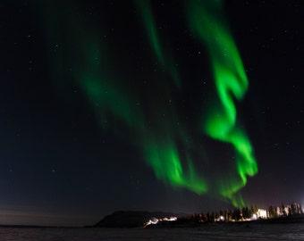 Northern Lights 8x12 print, aurora borealis, night sky, fine art photograph, Canadian photograph, aurora photograph, Northwest Territories