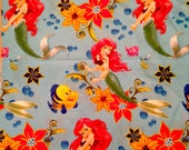 Disney Princess Ariel The Little Mermaid Fabric - Different Sizes available