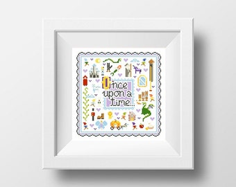 PDF - Once Upon A Time Square Cross Stitch Pattern