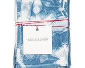 Hand-dyed shibori napkins/hand-dyed with natural indigo/flour sack napkins/Set of 4/Hostess gift/Sustainable design/Non-disposable living