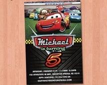Cars Birthday Invitation - Cars Invitation, Printable Cars Invitation, Cars 2 Invitation, Birthday Party Ideas Lightning McQueen