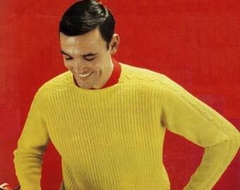 DK 8ply Light Worsted Sweater 34-44 ins  - Lee Target6054PDF of Vintage Knitting Patterns - Instant Download