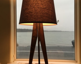 Reclaimed Tripod Table Lamp