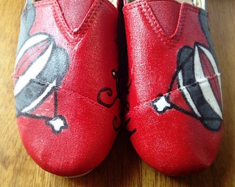 Handpainted Sock Monkey Canvas Shoes (for women and children)