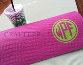 Yoga Mat Monogram Decal