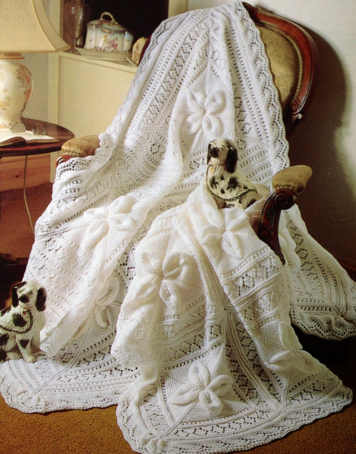 Knitting Pattern For Baby Shawl Blanket : baby blanket knitting pattern shawl and cot blanket by ...